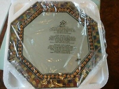 PartyLite Global Fusion Mosaic Holder Wall Mirror Candle Holder Retired NIB