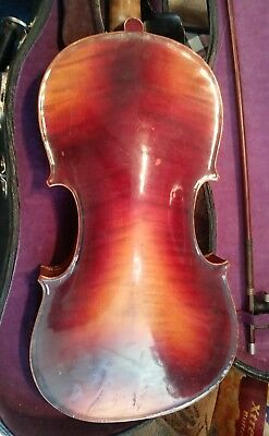 old labeled 4/4 violin, Nicolaus Amati.  Bausch Bow