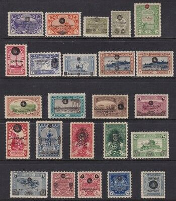 1919 Turkey/Turquie/Turchia - n° 595/612D  set of 24 MNH/**  Signed Oliva