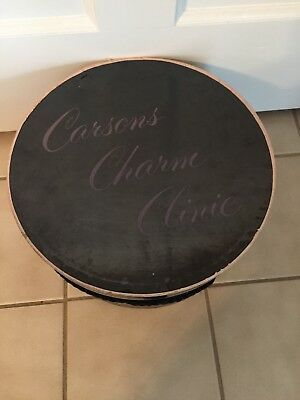 """Vintage Carson's Charm Clinic Hat Box String Attatched Cool!! 12"""" Round"""