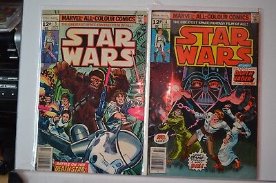 Star Wars 1977 Marvel comic, issue  3 and 4