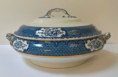 "Art Deco Losol Ware ""Cranford"" Tureen with Lid (Keeling & Co Ltd)"