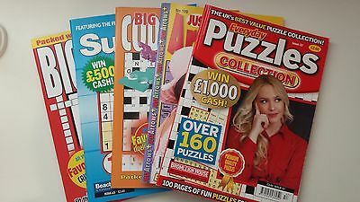 5 x Assorted Puzzle Books - Everyday Puzzles Issue 57 - NEW