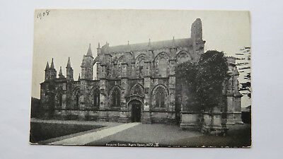 1908 Vintage Postcard Rosslyn Chapel Roslin Freemasons Masonic Knights Templar