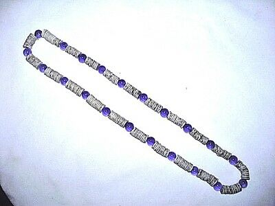 Strand of Old Shell & Glass Trade Beads