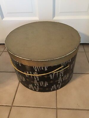 """Vintage Hat Box String Attatched Cool!! 14"""" Round Nice!!"""