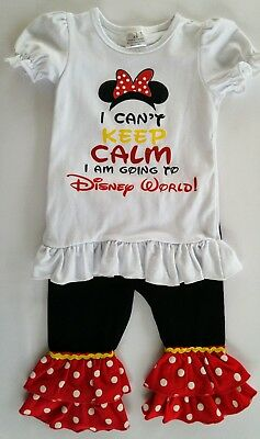 Girls Minnie Mouse Disney World Boutique Outfit Set 18m 24m 2t (please see meas)