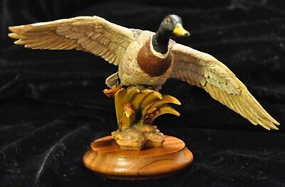 Collectible Anri Mallard Wood Sculputure of Gunther Granget Limited Edition