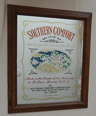 Southern Comfort Mirror Vintage 70's Very Good Condition Large Clean