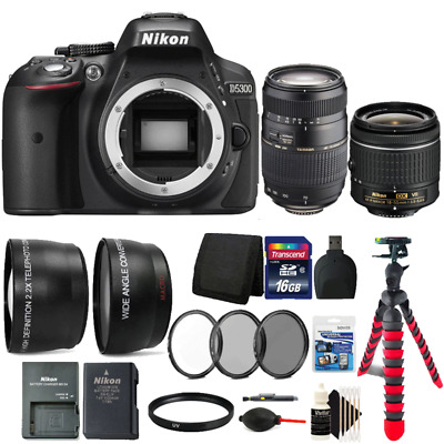 Nikon D5300 24.2MP DSLR Camera with 18-55mm Lens, 70-300mm Lens and 16GB Kit