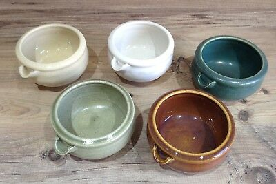 Japanese/Oriental Sake Pottery Cups, X 5, Immaculate!