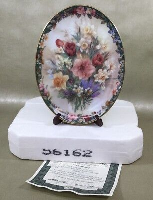 """Bradford Exchange Lena Liu Floral Cameos Collection """"Enchantment"""" Oval Plate"""