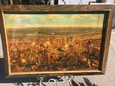 Antique Advertising Custers Last Stand By Budweiser Large Cardboard Lithograph