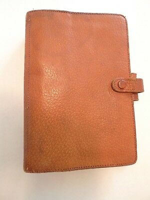 Filofax- Vintage -Personal Size-Made @ England For Ann Taylor-Pigskin-Well Used