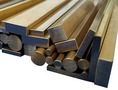 Brass Stock Metal, Square, Flat Bar, Round Rod, Angle & Tube 100mm to 600mm long
