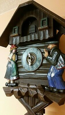 ANTIQUE  GERMAN  CUCKOO CLOCK   / Fully  Servised /Perfect Working Order .c 1950