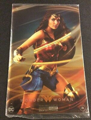 WONDER WOMAN #26 Comic SDCC 2017 SILVER FOIL Exclusive GAL GADOT Cover UNOPENED