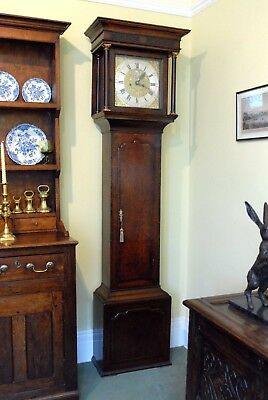George III oak cased 8 day longcase clock