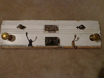 Coat Rack, antique/vintage,  wall hooks , victorian baseboard, shabby chic