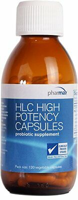 Pharmax - HLC High Potency Capsules 120CT Probiotics to Promote Gastrointestinal