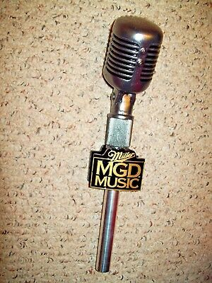 """Miller MGD Microphone Music Figural Tap Handle 12"""" - Never Used"""