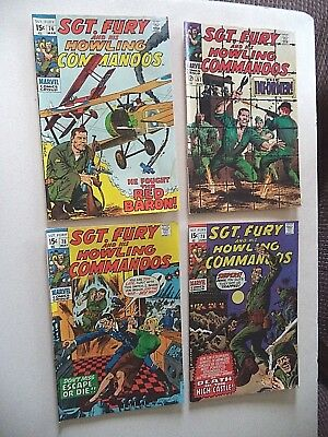 4 SGT Fury and his Howling Commandos comics # 57 76 78 79