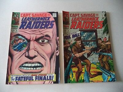 2 Captain Savage comics # 4 and # 8 12 cent issues 1960's
