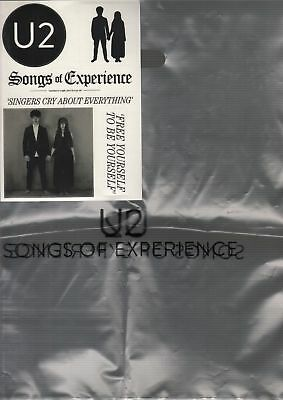 U2 Songs of Experience Promo Sticker sheet + 2 Plastic Carrier Bags UK POST FREE