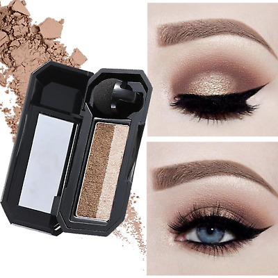 Dual Color Eyeshadow Makeup Palette Perfect Glitter Eye Shadow Shade Cosmetic