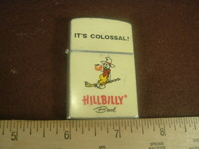 Vintage Japan Sharp Advertising Lighter Hillbilly Bread