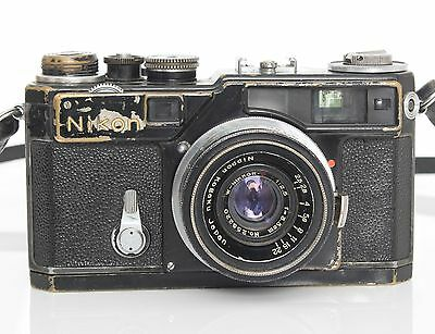 Nikon SP Black Paint Rangefinder /w 3.5cm 2.5 black lens - RARE early