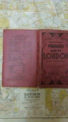 Geographer's Map Company Ltd. Premier Map of London and Suburbs c1950s