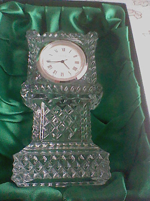 Galway Crystal  4 I/2 Inch Grandfather Clock