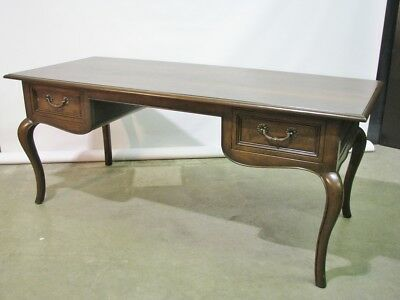 Vintage Baker Furniture Walnut Italian Provincial Style Desk; Mint Condition