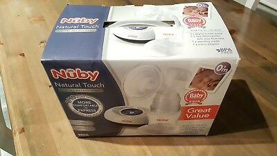 Nuby Natural Touch Digital Electric Breast Pump + travel battery & storage bags