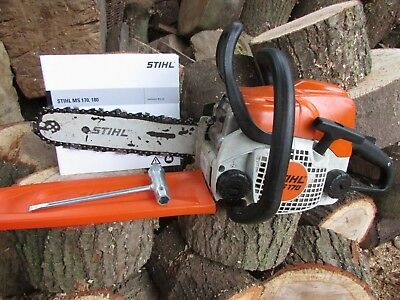 "STIHL CHAINSAW MS170 WITH 12"" BAR AND CHAIN FULL WORKING ORDER like ms 180 ms171"