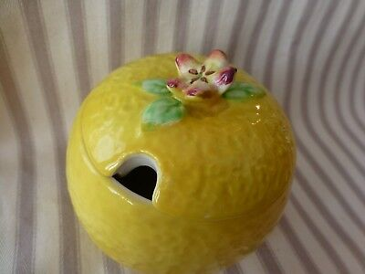 Beswick Jam Marmalade Preserve Yellow Lemon Fruit Pot With Lid Vgc No. 207-2