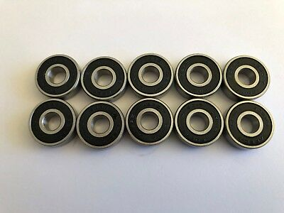 10 pcs 608 2RS oil lube [no grease] High Quality Ball Bearing ABEC7, 8x 22x 7 mm