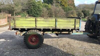 farm yard trailer wooden tipper