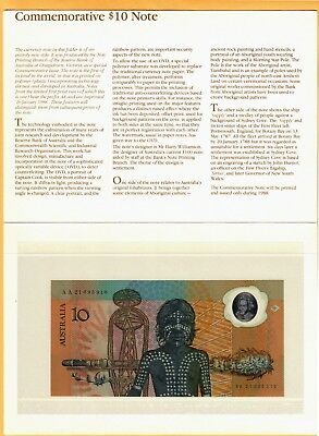 Australia 1988 Polymer Immigration 200th Commemorative Banknotes 10 Dollars UNC