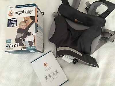 Ergo baby Mesh 360 4 Position New With Box Carbon Grey