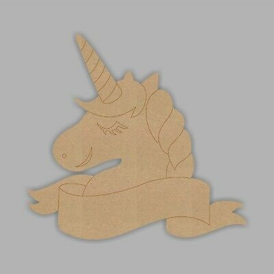 Wooden MDF Unicorn Plaque Room Sign with Banner Unicorn Decoration