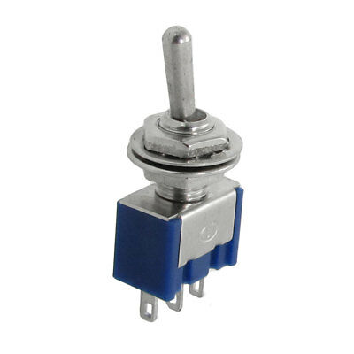 5pcs AC 125V 6A 3 Terminal SPDT On/Off/On 3 Position Mini Toggle Switch Blue