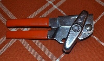 Vintage Swing-A-Way Swing Away Can Opener Made USA RED Handle OLD 50's or 60's