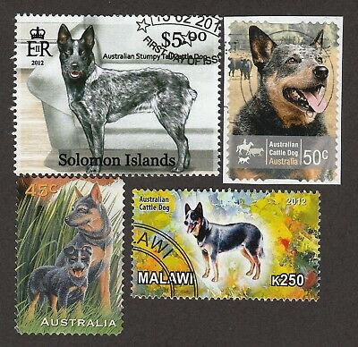 AUSTRALIAN CATTLE DOG ** Int'l Postage Stamp Collection  **Great Gift Idea**