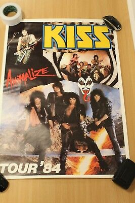 Kiss Poster,  Kiss Animalize Tour, 84..
