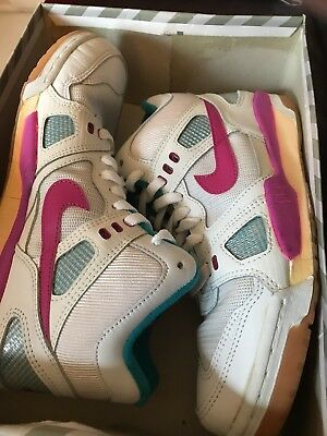VTG 90s Nike Air Digs High Top Sneakers shoes neon SZ 9