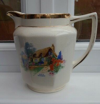 Vintage Arthur Wood jug. Pic A bit of old England. Named Iris. made in england.
