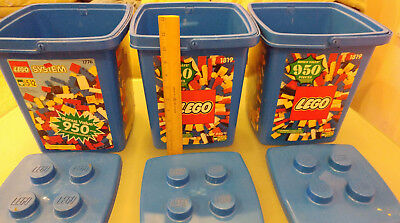 LEGO LOT OF 3 Storage Container Bucket Tub Lid Stackable EMPTY NO