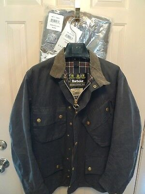 Barbour- M7 International Wax Cotton Jacket & Liner--Rare Nato Issue- Made@uk-40